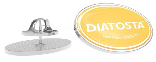 Metal Pin oval Schmetterlingsverschluss 28 x 19 mm als Werbeartikel