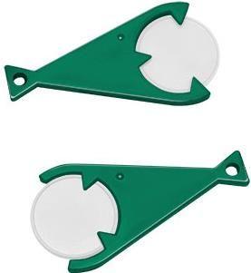 Chiphalter Piranha mit 1€-Chip als Werbeartikel