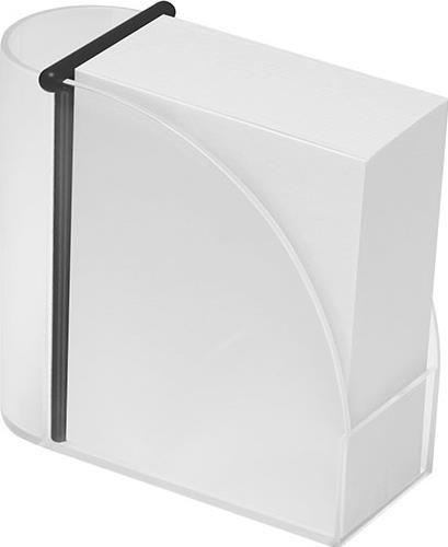 Designer-Zettelbox mit integriertem Köcher als Werbeartikel