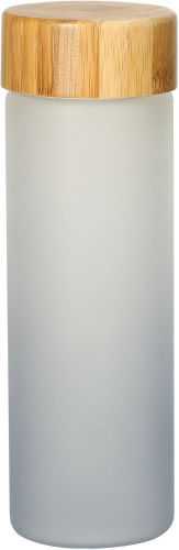 Glasflasche Frosted 0,4 l als Werbeartikel