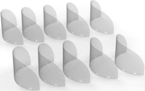 Ersatzvisier für Mund-Nasen-Schild Gastronomie, 10er Set als Werbeartikel