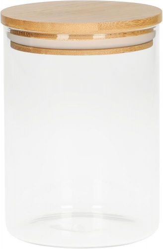 Glasbehälter Bamboo, 0,65 l als Werbeartikel