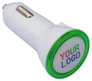 Kfz Ladegerät zwei Ausgänge Dual USB Car Charger 2,1 A als Werbeartikel