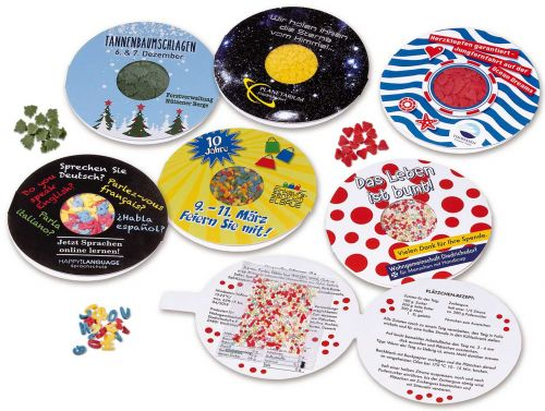 CandyCard Zuckerdekor individuell als Werbeartikel