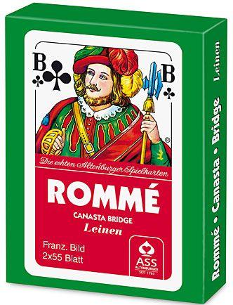 Doppel-Rommé Französisches Bild inkl. Werbedruck als Werbeartikel