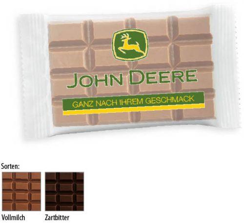 Schokoladentäfelchen 20g 1 Stück als Werbeartikel
