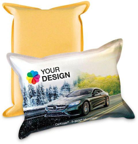 CarKoser® HD 2in1 Scheibenschwamm Kissenform, glatt, lose als Werbeartikel