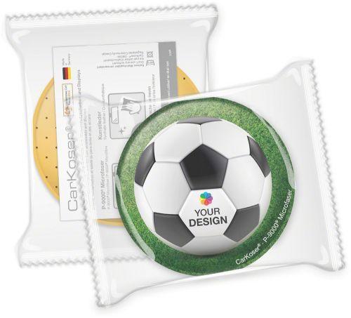 CarKoser® 2in1 Classic Scheibenschwamm Kreisform, perforiert, in der Folie als Werbeartikel