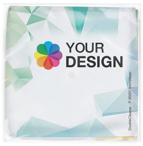 DoubleCleaner® Microfasertuch 30 x 30 cm im Polybeutel als Werbeartikel
