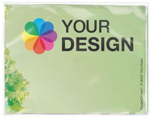 DoubleCleaner® Microfasertuch 40 x 30 cm im Polybeutel als Werbeartikel