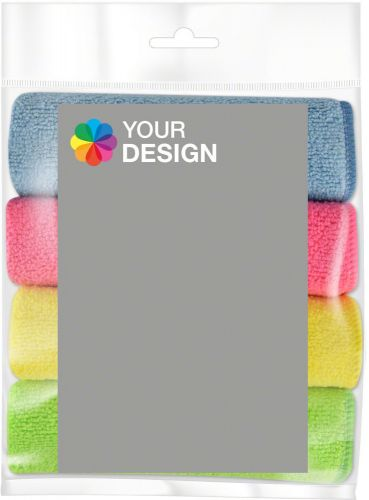 Microfaser PowerPack mit Werbe-Etikett Individuell als Werbeartikel