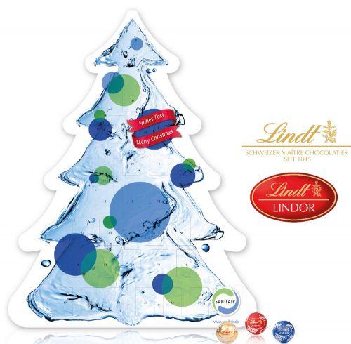Adventskalender Weihnachtsbaum Lindt & Sprüngli als Werbeartikel