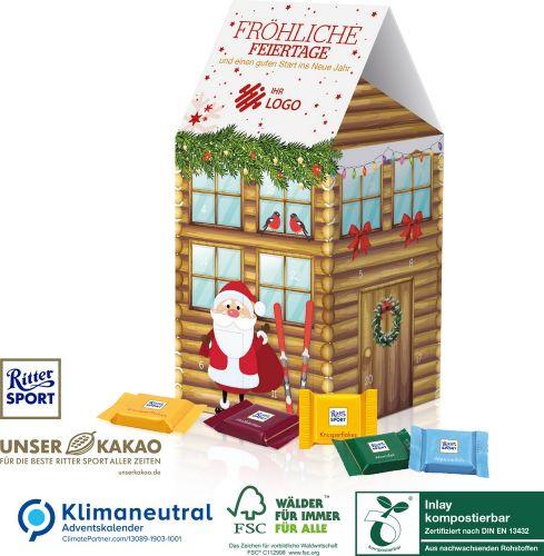 Adventskalender-Haus Ritter SPORT als Werbeartikel