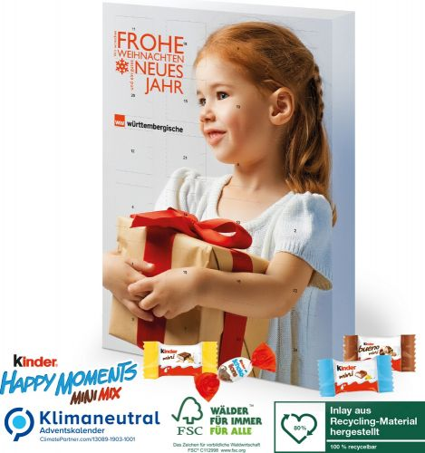 Adventskalender kinder® Happy Moments als Werbeartikel
