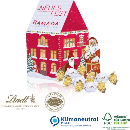 Präsent Weihnachtshaus als Werbeartikel