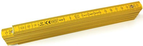 B400 Holzgliedermaßstab 2m als Werbeartikel