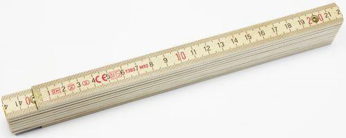 B500 Holzgliedermaßstab 2m als Werbeartikel
