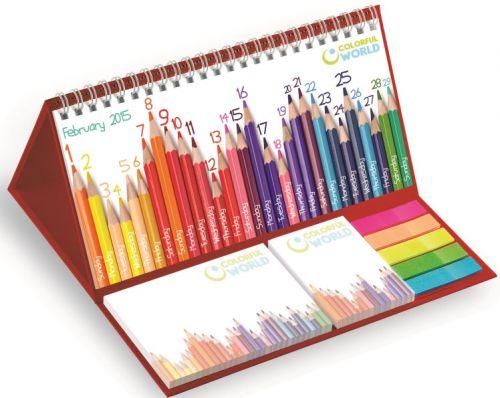 Tischkalender zum Aufstellen mit der O-Spirale