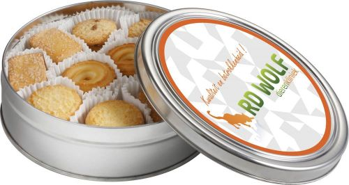Dose mit Keksen als Werbeartikel