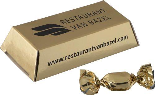 Mini Goldbarren mit Metallic Sweets als Werbeartikel