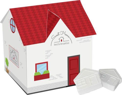 Haus mit Pfefferminz als Werbeartikel