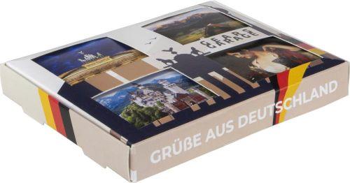 Klappdeckeldosen 4er-Set Belgische Andenken als Werbeartikel
