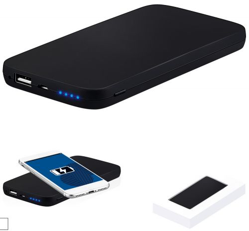 Powerbank mit Wireless Charger als Werbeartikel