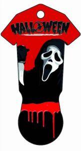 Einkaufswagenchiphalter IN&OUT Halloween einseitig als Werbeartikel