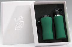 Sonderaktion Isolierbecher und Trinkflasche im Set als Werbeartikel