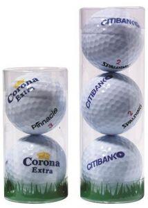 1er, 2er, 3er Golfball Plastik-Tube