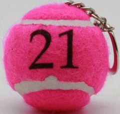 Mini Tennisball Schlüsselanhänger als Werbeartikel