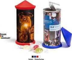 Litfasssäule mit Bonbon Füllung als Werbeartikel