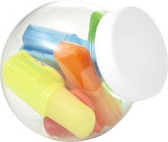 Textmarker Sweets im Glas mit Deckel als Werbeartikel