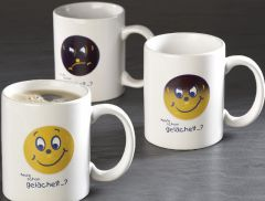 Magic Becher Smilie mit Ihrem Logo