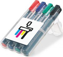 STAEDTLER Lumocolor permanent marker, Box mit 4 Markern