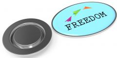 Metal Pin oval mit Magnet als Werbeartikel