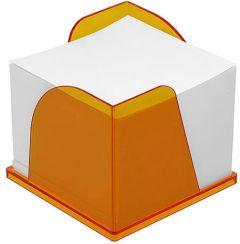 Zettelbox mit 2 Papierentnahmen als Werbeartikel