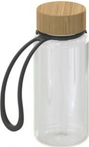 Trinkflasche Natural transparent inkl. Strap 0,4 l