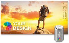 ActiveTowel® Sports Microfaser-Sporthandtuch 80 x 40 cm in der Dose individuell als Werbeartikel