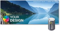 ActiveTowel® Sports Microfaser-Sporthandtuch 100 x 40 cm in der Dose Standard
