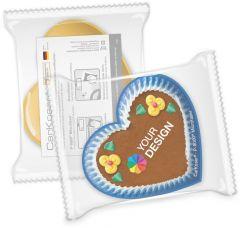 CarKoser® HD 2in1 Scheibenschwamm Herzform, glatt, in der Folie