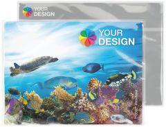 POLYCLEAN Displaytuch 24x18 cm im Polybeutel mit individueller Karte als Werbeartikel