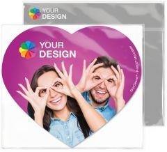 GripCleaner® 4in1 Mousepad Herz 23 x 20 cm als Werbeartikel