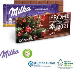 Milka Weihnachtsschokolade, 100 g als Werbeartikel