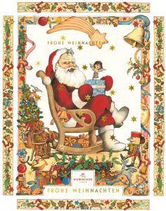 Adventskalender Weihnachtsmann  als Werbeartikel als Werbeartikel