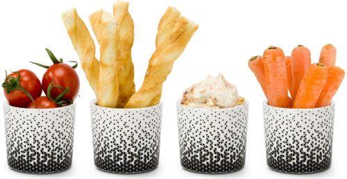 4er Set Mini Snackbecher Aperitivo als Werbeartikel