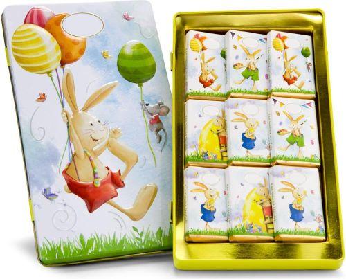Schokoladendose Ostergrüße als Werbeartikel