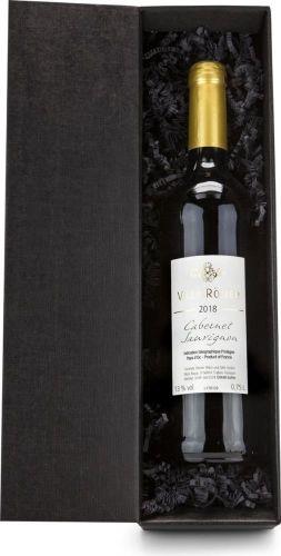 Rotwein im schwarzen Geschenkkarton als Werbeartikel