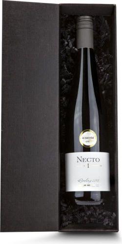 Weißwein im schwarzen Geschenkkarton als Werbeartikel