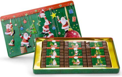 Schokoladendose Merry Christmas als Werbeartikel